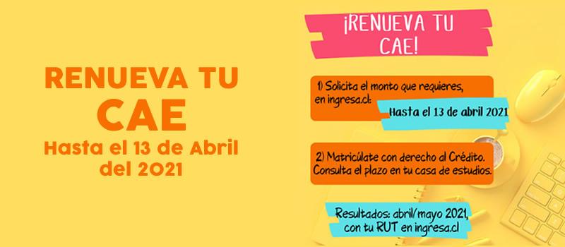 Escuela de Comercio - Renueva tu CAE hasta el 13 de Abril 2021